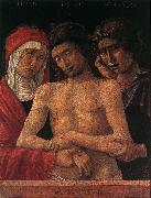 BELLINI, Giovanni Dead Christ Supported by the Madonna and St John (Pieta) fd oil