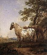 BERCHEM, Nicolaes Landscape with Two Horses oil painting artist
