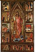 BIONDO, Giovanni del Altarpiece of the Baptist fgf oil