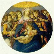 BOTTICELLI, Sandro Madonna of the Pomegranate (Madonna and Child and six Angels) fdgd oil painting picture wholesale