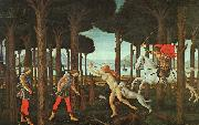 BOTTICELLI, Sandro The Story of Nastagio degli Onesti (first episode) ghj oil painting picture wholesale