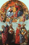 BOTTICELLI, Sandro The Coronation of the Virgin (San Marco Altarpiece) gfh oil painting picture wholesale