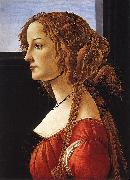 BOTTICELLI, Sandro Portrait of a Young Woman 223ff oil painting picture wholesale