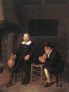 BREKELENKAM, Quiringh van Interior with Two Men by the Fireside f oil painting picture wholesale