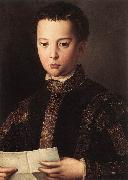 BRONZINO, Agnolo Portrait of Francesco I de Medici oil painting artist