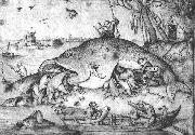 BRUEGEL, Pieter the Elder Big Fishes Eat Little Fishes g oil
