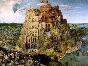 BRUEGEL, Pieter the Elder The Tower of Babel f oil