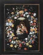 BRUEGHEL, Ambrosius Holy Virgin and Child oil
