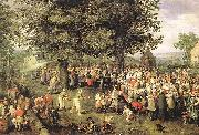 BRUEGHEL, Jan the Elder Wedding Banquet g Germany oil painting reproduction