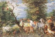 BRUEGHEL, Jan the Elder The Animals Entering the Ark  fggf oil