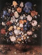 BRUEGHEL, Jan the Elder Bouquet in a Clay Vase f oil painting picture wholesale