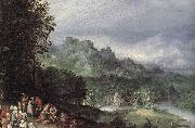 BRUEGHEL, Jan the Elder A Flemsh Fair (detail) ffg oil