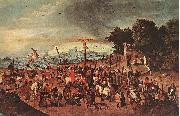 BRUEGHEL, Pieter the Younger Crucifixion dgg oil