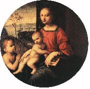 BUGIARDINI, Giuliano Virgin and Child with the Infant St John the Baptist oil