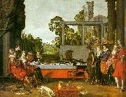 BUYTEWECH, Willem Banquet in the Open Air oil