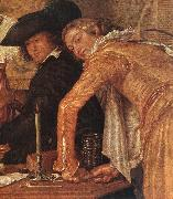 BUYTEWECH, Willem Merry Company (detail) oil