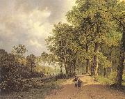 Barend Cornelis Koekkoek View of a Park oil painting artist