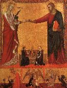Barna da Siena The Mystical Marriage of St.Catherine oil