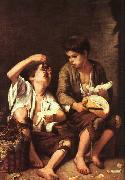 Bartolome Esteban Murillo Boys Eating Fruit oil painting picture wholesale