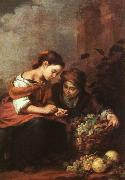Bartolome Esteban Murillo Girls Selling Fruit oil painting picture wholesale