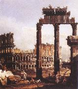 Bernardo Bellotto Capriccio with the Colosseum oil painting artist