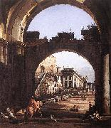 Bernardo Bellotto Capriccio of Capital oil painting artist