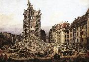 Bernardo Bellotto The Ruins of the Old Kreuzkirche in Dresden oil painting artist