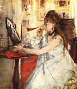 Berthe Morisot Young Woman Powdering Herself oil painting picture wholesale