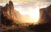 Bierstadt, Albert Looking Down the Yosemite Valley oil painting picture wholesale