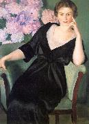 Boris Kustodiev Renee Notgaft oil painting artist