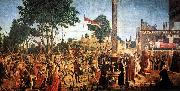 CARPACCIO, Vittore Martyrdom of the Pilgrims and the Funeral of St Ursula fg oil painting picture wholesale