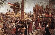 CARPACCIO, Vittore Martyrdom of the Pilgrims and the Funeral of St Ursula (detail) fdg oil painting picture wholesale