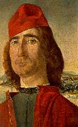 CARPACCIO, Vittore Portrait of an Unknown Man with Red Beret dfg oil painting picture wholesale