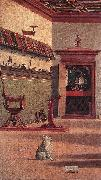 CARPACCIO, Vittore Vision of St Augustin (detail) fdg oil painting picture wholesale