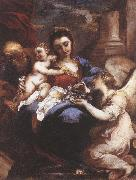 CASTELLO, Valerio Holy Family with an Angel fdg oil