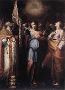 CAVAROZZI, Bartolomeo St Ursula and Her Companions with Pope Ciriacus and St Catherine of Alexandria g oil painting picture wholesale