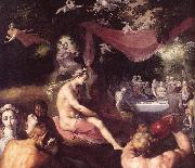 CORNELIS VAN HAARLEM The Wedding of Peleus and Thetis (detail) dfg oil painting artist