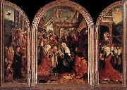 CORNELISZ VAN OOSTSANEN, Jacob Triptych of the Adoration of the Magi fd oil