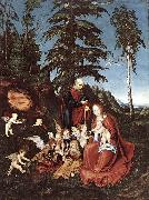 CRANACH, Lucas the Elder The Rest on the Flight into Egypt  dfg oil painting picture wholesale