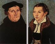 CRANACH, Lucas the Elder Portraits of Martin Luther and Catherine Bore dfg oil painting picture wholesale