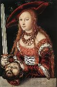 CRANACH, Lucas the Elder Judith with the Head of Holofernes dfg oil painting picture wholesale