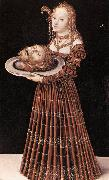 CRANACH, Lucas the Elder Salome with the Head of St John the Baptist dfgj oil painting picture wholesale