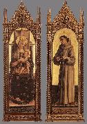 CRIVELLI, Carlo Madonna and Child; St Francis of Assisi dfg oil