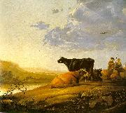 CUYP, Aelbert Young Herdsman with Cows fdg oil