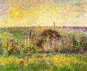 Camille Pissaro Countryside and Eragny Church and Farm oil
