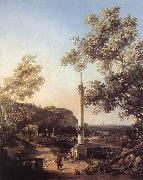 Canaletto Capriccio: River Landscape with a Column f oil painting picture wholesale