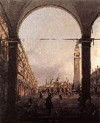 Canaletto Piazza San Marco: Looking East from the North-West Corner f oil painting picture wholesale