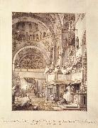 Canaletto San Marco: the Crossing and North Transept, with Musicians Singing df oil painting picture wholesale
