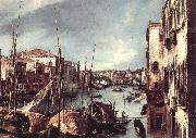 Canaletto The Grand Canal with the Rialto Bridge in the Background (detail) oil painting picture wholesale