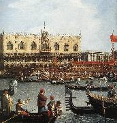Canaletto Return of the Bucentoro to the Molo on Ascension Day (detail) d oil painting picture wholesale
